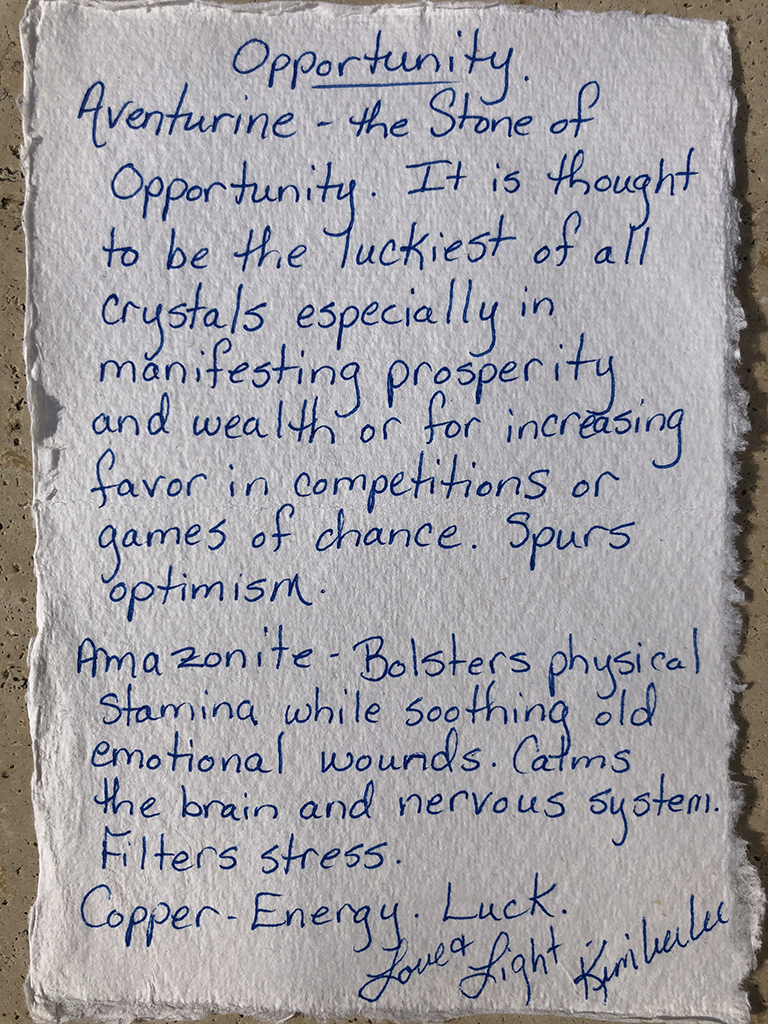 The Stone of Opportunity